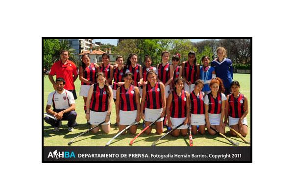 Las cuervitas se quedaron con el título en la séptima división (Foto: Prensa AAHBA/Hernán Barrios)