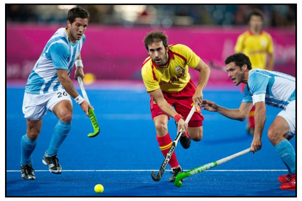 Argentina no pudo con España (Foto: Grant Treeby/FIH)