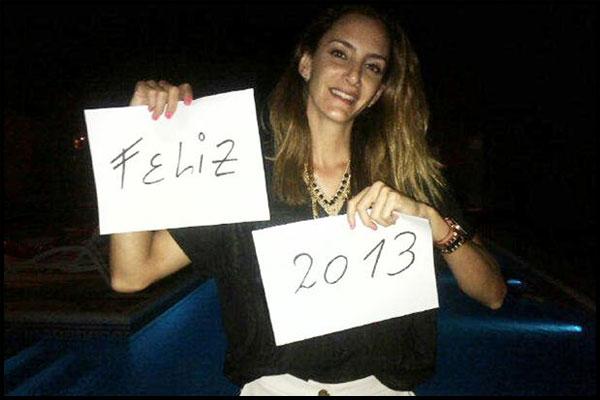 Luciana Aymar augua un feliz 2012 - Foto: Twitter (@aymarlucha)